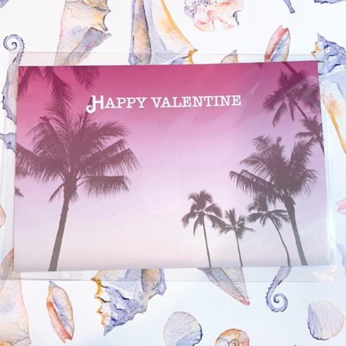 バレンタインポストカード