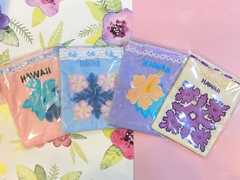 ハワイアンキルト巾着袋