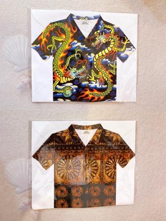 アロハシャツがたグリーティングカード
