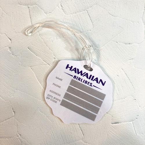 ハワイ直輸入ハワイアンエアラインのオリジナルタグ