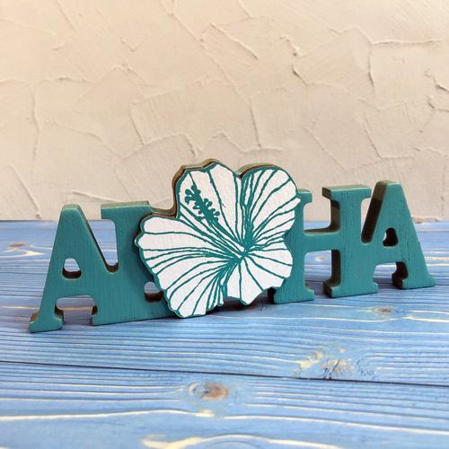ハワイ直輸入ALOHAサインボード