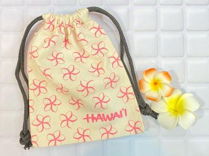 ハワイアン巾着袋